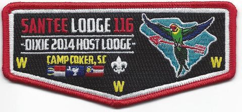 #116 Santee Lodge Flap S43 Dixie Host Lodge 2014 Issue - Scout Patch HQ