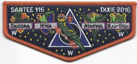 #116 Santee Lodge Flap S48 Wizards Trader 2016 Issue - Scout Patch HQ