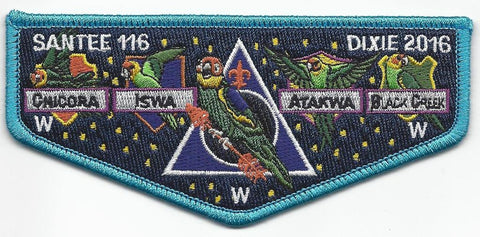 #116 Santee Lodge Flap S49 Wizards Delegate 2016 Issue - Scout Patch HQ