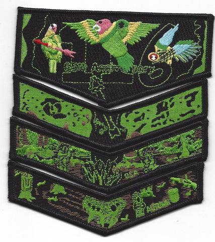 #116 Santee Lodge 2003 Night Vision Complete 4 Patch Set [CC382]