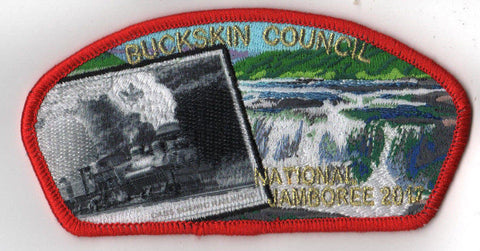 2017 National Scout Jamboree Buckskin Council Train with Smoke JSP Red [C3148] - Scout Patch HQ