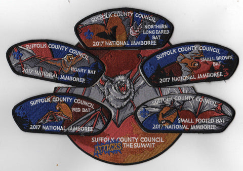 2017 National Scout Jamboree Suffolk County  6 pc Set BLK JSP [FB245]