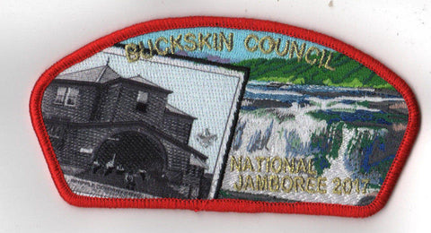2017 National Scout Jamboree Buckskin Council Whipple JSP Red [C3150] - Scout Patch HQ