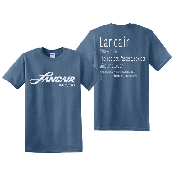 Lancair Explained T-Shirt - Indie Blue