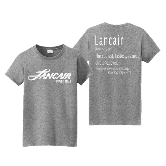 Lancair Explained Women's Tee - Graphite