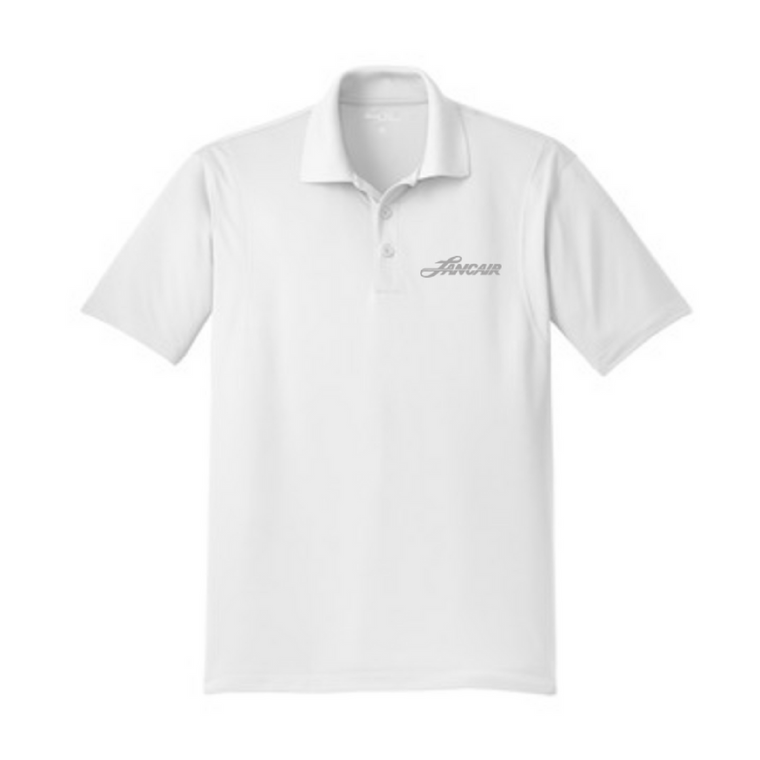 Heritage Logo Micropique Polo - White