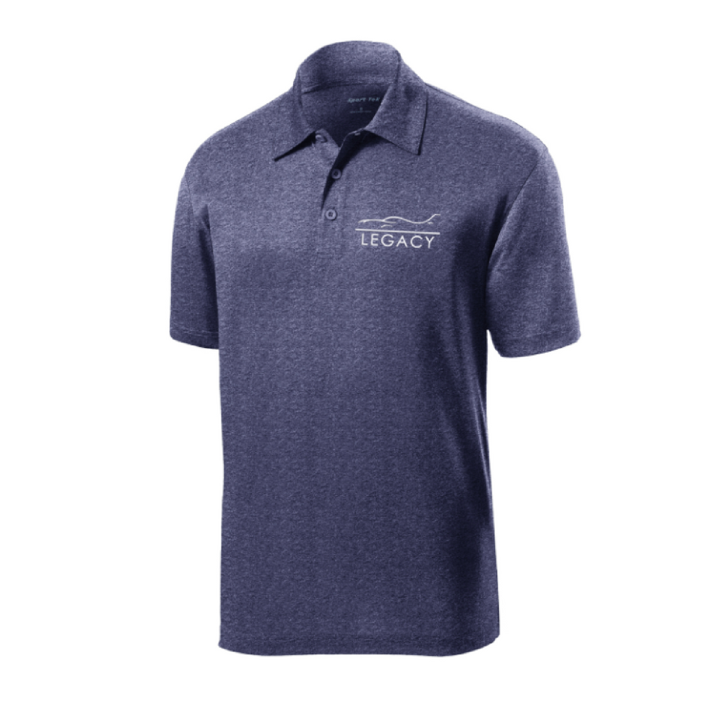 Legacy Contender Men's Polo Heather Blue