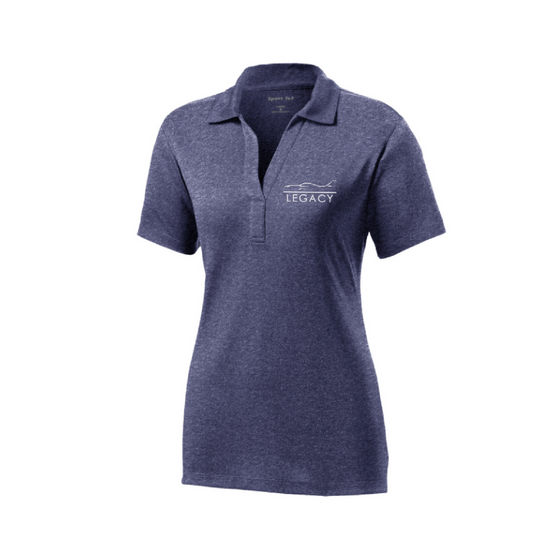 Legacy Heather Contender Women's Polo - Blue