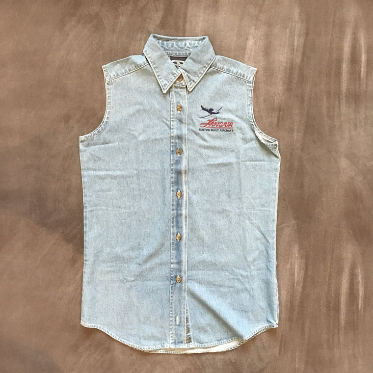 Women's Sleeveless Denim Buttonup - FLASH SALE