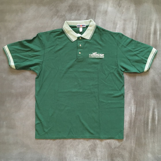 Men's Hunter Green Logo Polo - FLASH SALE