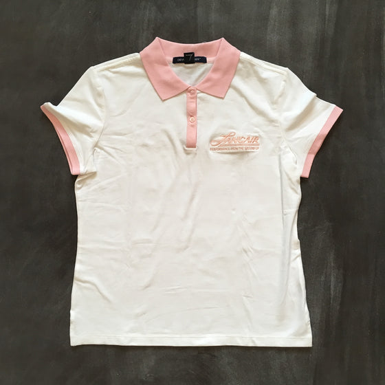 Women's Pink Accent Polo - FLASH SALE