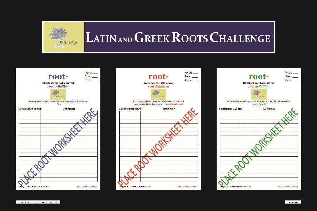 Latin and Greek Roots Challenge - Classroom Board