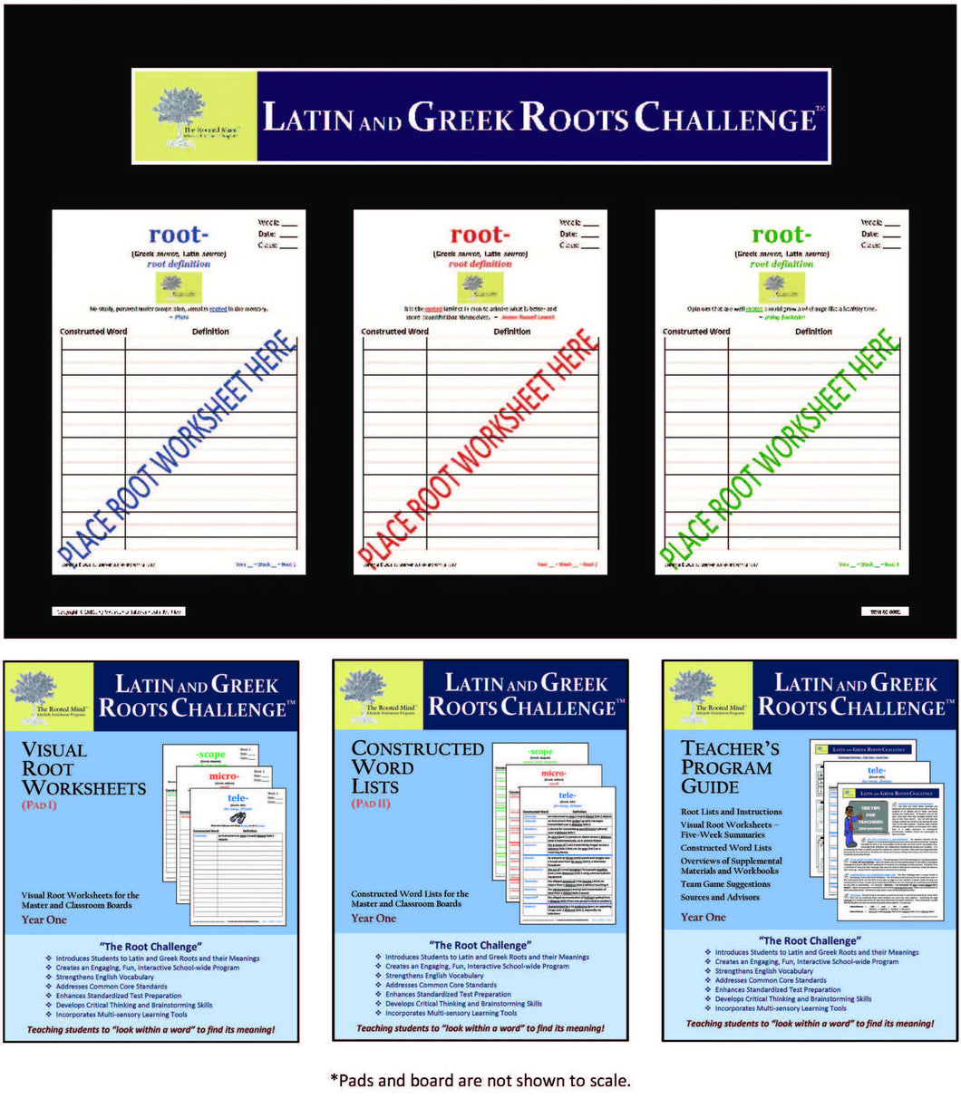 Latin and Greek Roots Challenge - Classroom Board Kit - Year 1