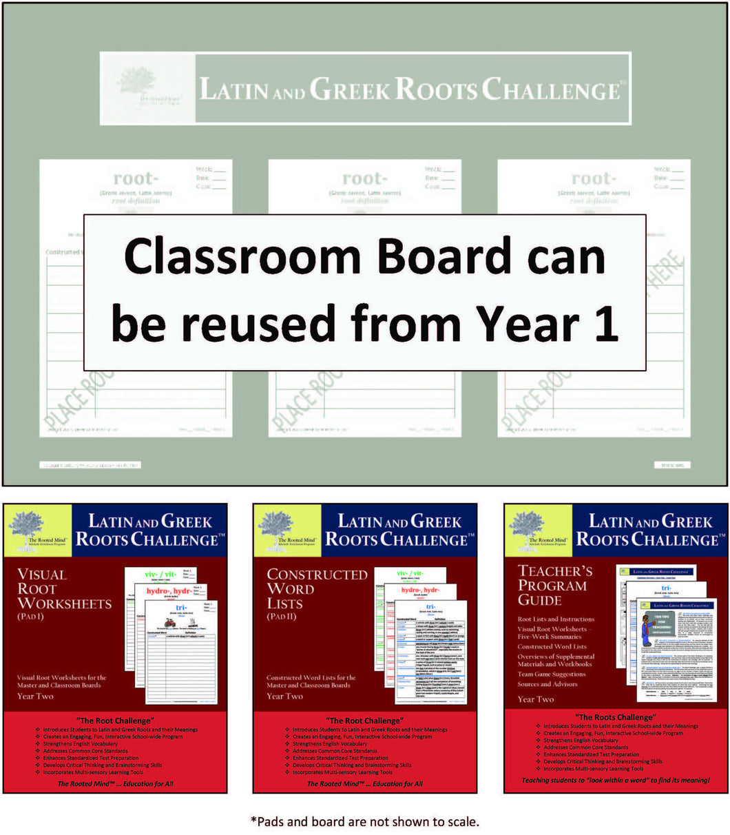 Classroom Board Kit - Year 2   (Grades 2 - 8+)