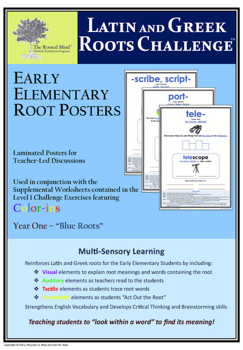 Latin and Greek Roots Challenge - Year 1 - Early Elementary Root Posters
