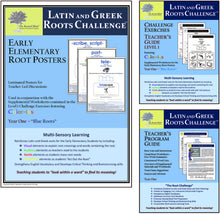 Latin and Greek Roots Challenge - Year 1 - Early Elementary Root Posters Kit