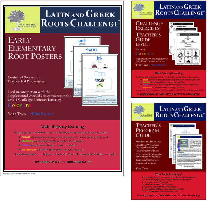 Latin and Greek Roots Challenge - Year 2 - Early Elementary Root Posters Kit