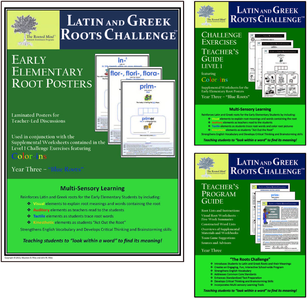 Latin and Greek Roots Challenge - Year 3 - Early Elementary Root Posters Kit