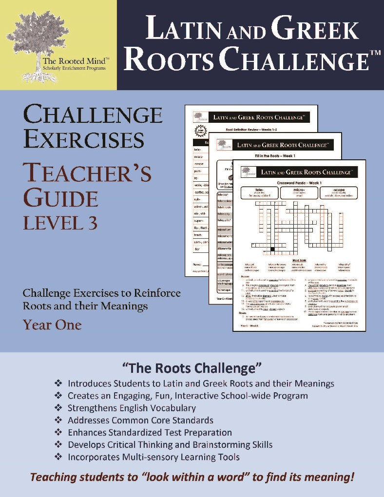 Latin and Greek Roots Challenge - Year 1 - Level 3 Teacher's Guide