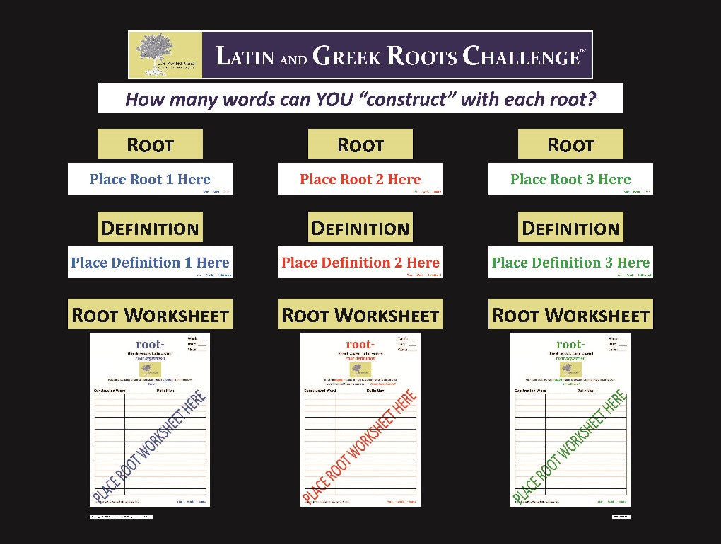 Latin and Greek Roots Challenge - Master Board