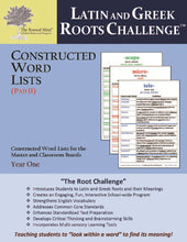 Latin and Greek Roots Challenge - Constructed Word Lists (Pad II) - Year 1