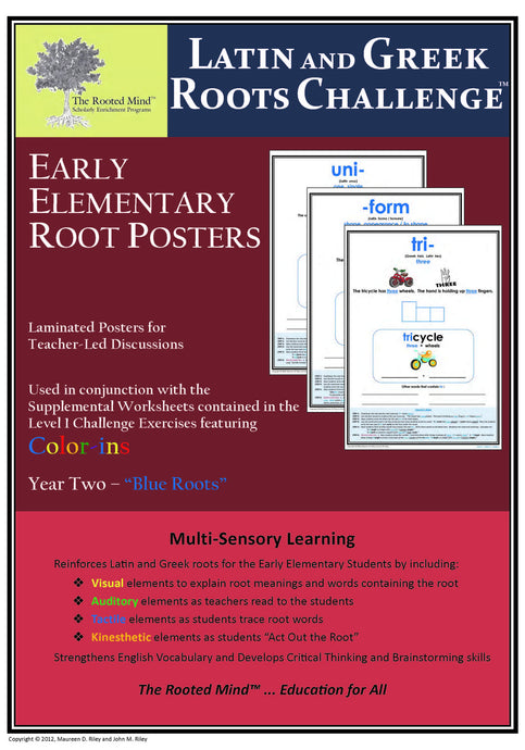 Latin and Greek Roots Challenge - Year 2 - Early Elementary Root Posters