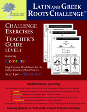 Challenge Exercises Teacher's Workbook: Year 2 - Level 1   (Pre-K - Grade 1)