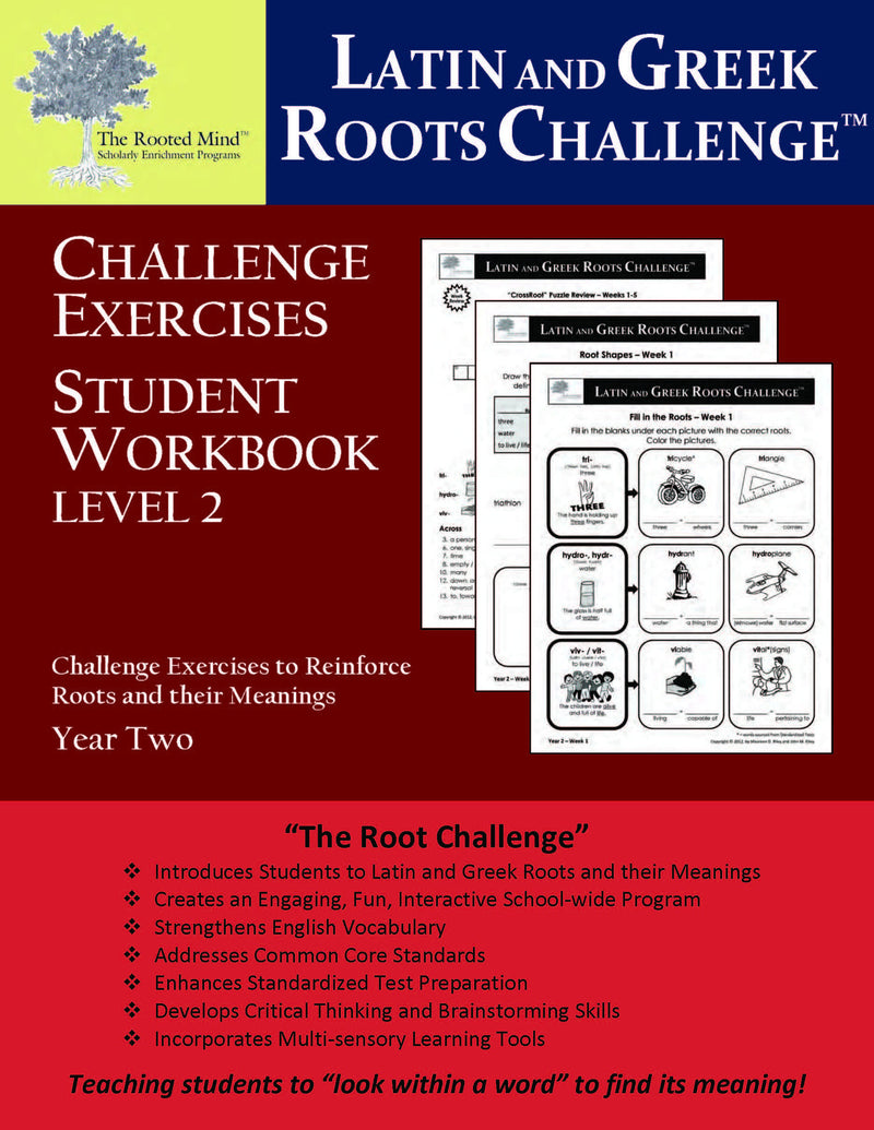 Latin and Greek Roots Challenge | Student Workbook | Year 2 ...