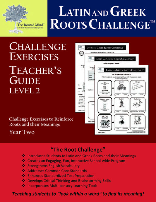 Latin and Greek Roots Challenge - Year 2 - Level 2 Teacher's Guide