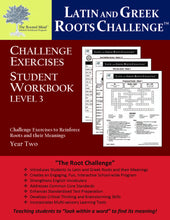 Latin and Greek Roots Challenge - Year 2 - Level 3 Student Workbook