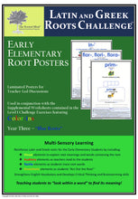Latin and Greek Roots Challenge - Year 3 - Early Elementary Root Posters