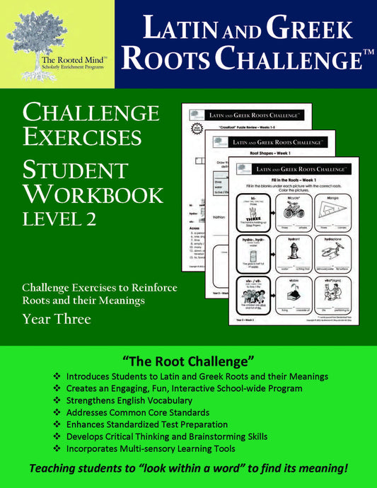 Latin and Greek Roots Challenge - Year 3 - Level 2 Student Workbook