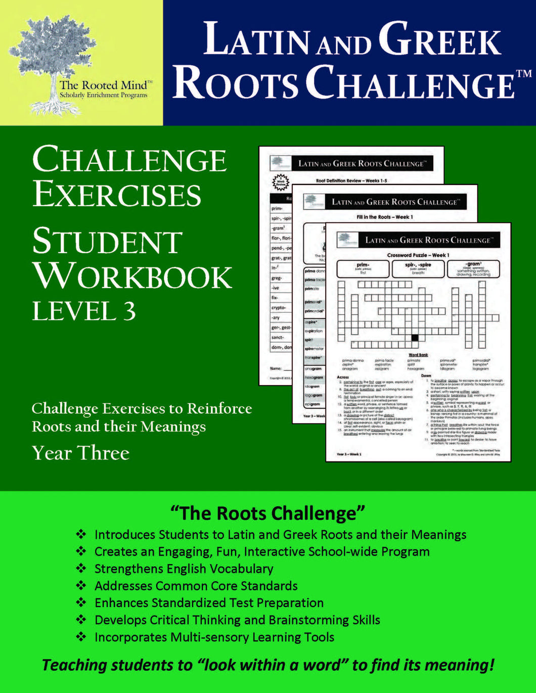 Latin and Greek Roots Challenge - Year 3 - Level 3 Student Workbook