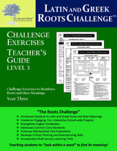 Latin and Greek Roots Challenge - Year 3 - Level 3 Teacher's Guide