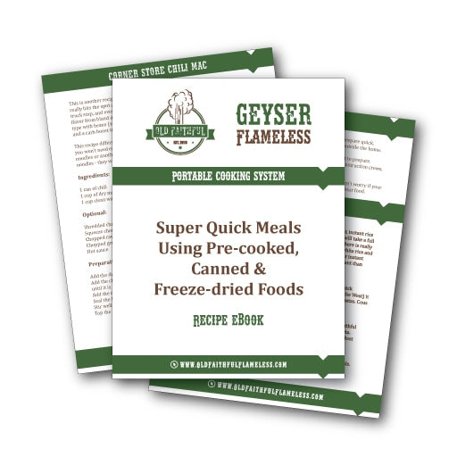 Recipe e-book for pre-cooked foods