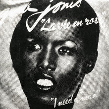 GRACE JONES RECORD SLEEVE
