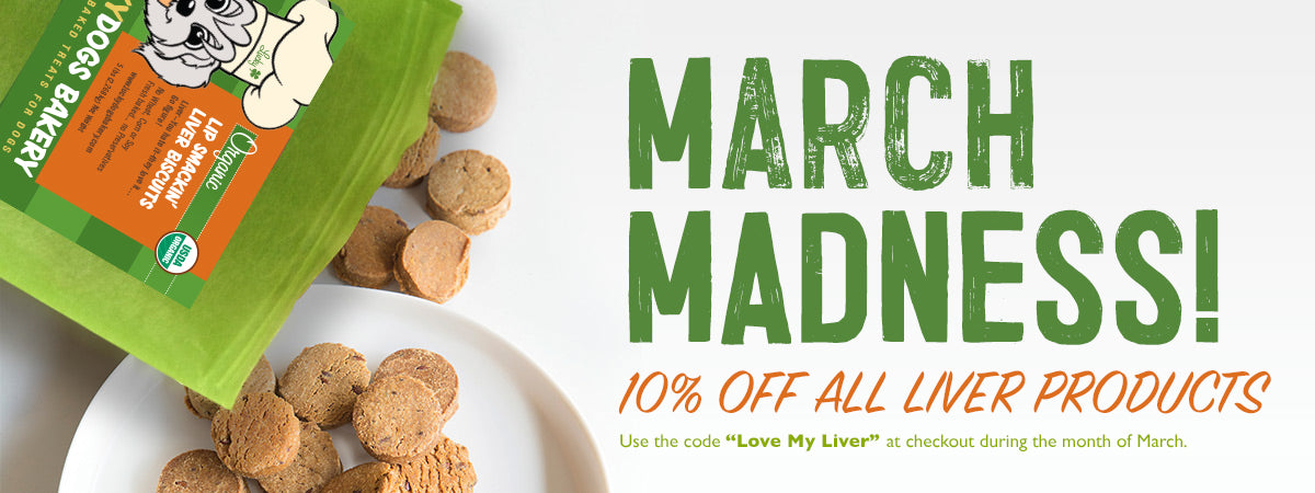 Lip Smackin' Liver Dog Treats 10% Off all Month!