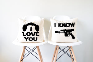 star wars i love you i know pillow