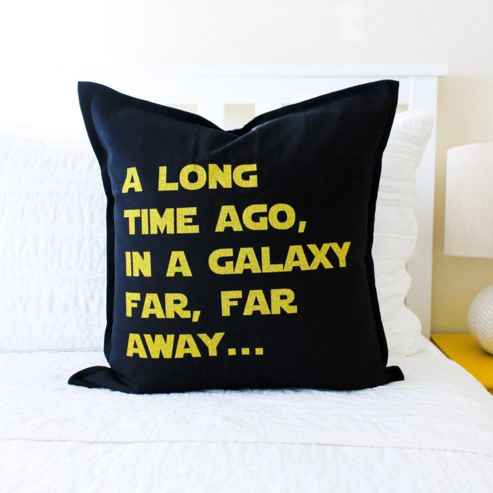 star wars long time ago pillow cover