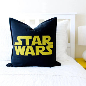 Star Wars pillow cover black and gold