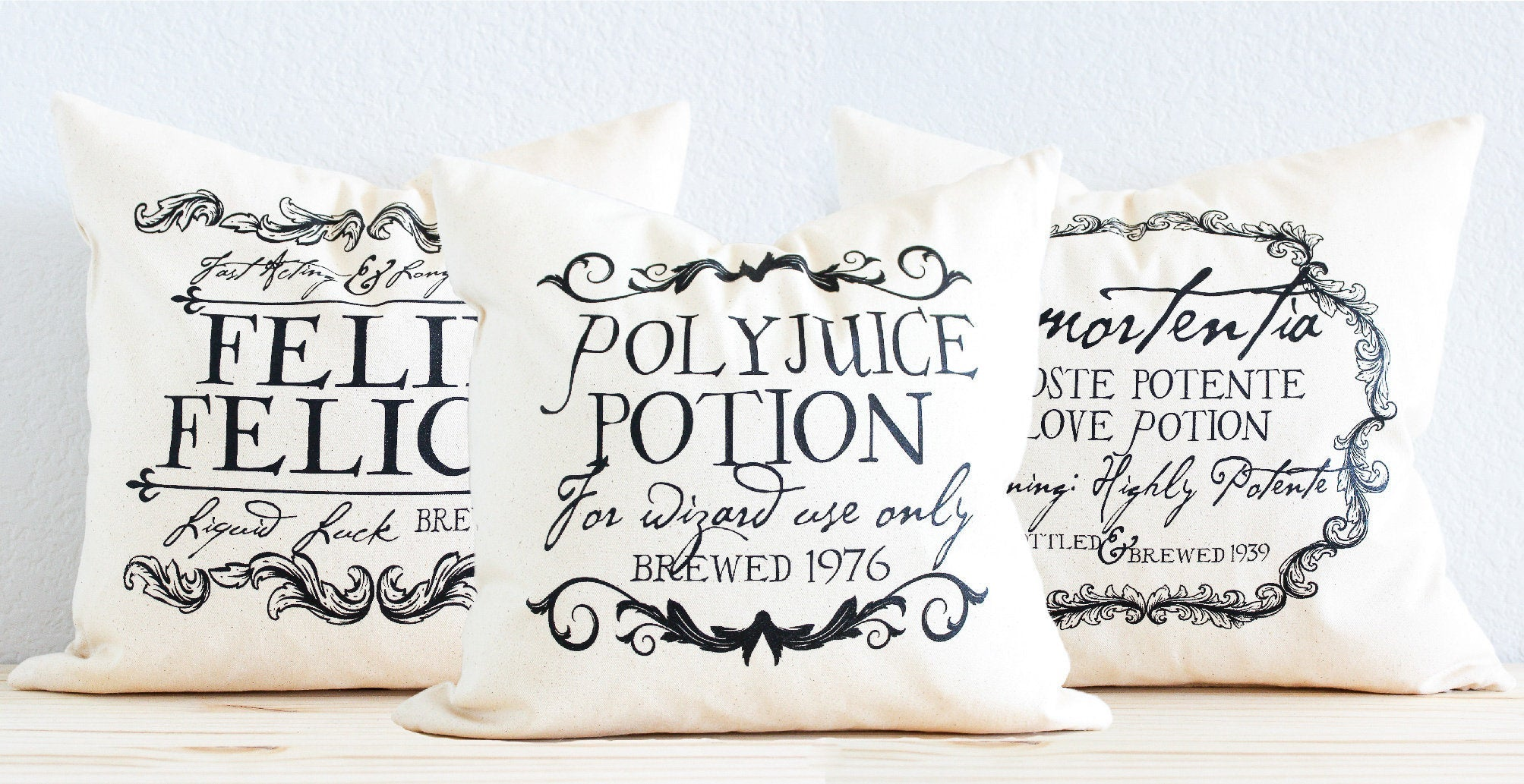 "Harry Potter Pillow - ""PolyJuice Potion"" Magical Wizard Potion"