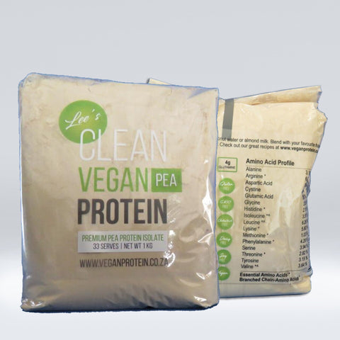 Vegan Protein - 100% Pea Protein Isolate in Compostable Bag - 1kg