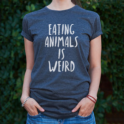 Charcoal Unisex 'Eating Animals is Weird' T-Shirt