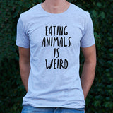 Light Grey Unisex 'Eating Animals is Weird' T-shirt