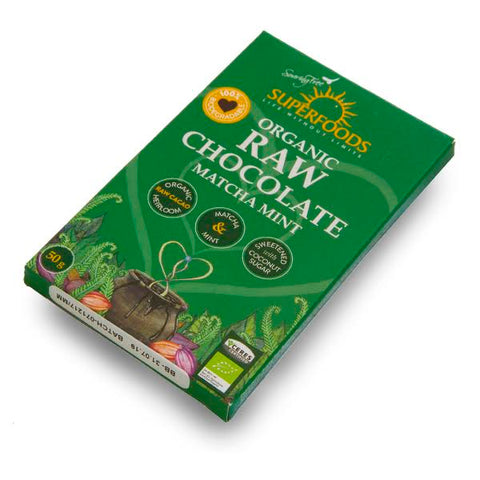 Matcha Mint Raw Chocolate - 50g