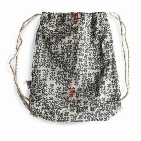 Veldt Hemp Drawstring Backpack - Acacia Forest