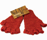 Kids Fingerless Gloves- Bamboo Blend