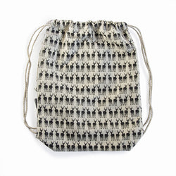 Veldt Hemp Drawstring Backpack - Impala Print