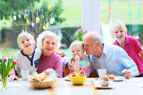 family with kids and grandparents spending time together
