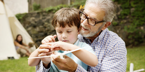 children spending time with grandparents